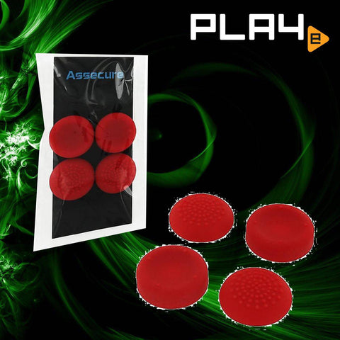 PS4 Zedlabz silicone Thumbs Grips - Red