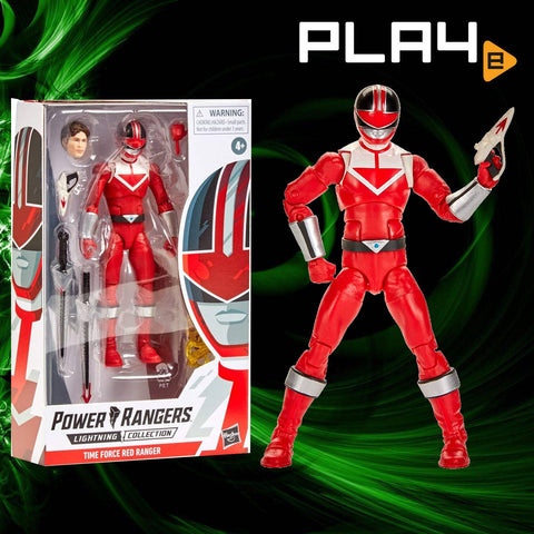 "Power Rangers Lightning E5906AS04 6"" Time Force Red Ranger"