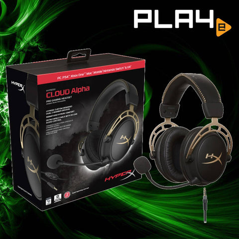 Hyper X Cloud Alpha Pro Gold Headset