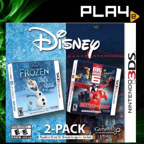3DS Disney 2 - Pack - Frozen: Olaf's Quest + BIG HERO 6: Battle in The Bay