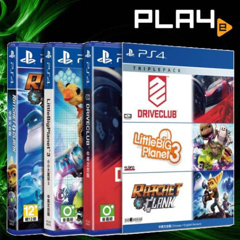 PS4 Triple Pack 3 (Driveclub / LittleBigPlanet 3 / Ratchet & Clank)