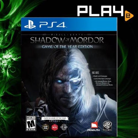 PS4 Middle Earth Shadow Of Mordor GOTY