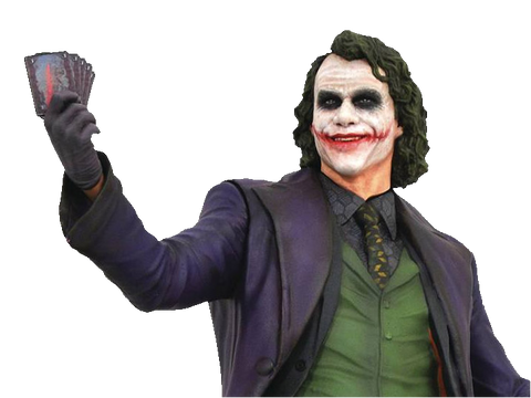 Dc Gallery Batman Dark Knight Movie Joker Statue Playe