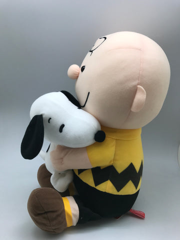 "Charlie Brown Hug Baby Snoopy 16"" Plush"