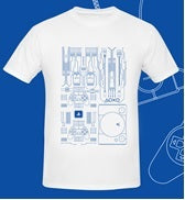 Playstation Mainboard Shirt - White
