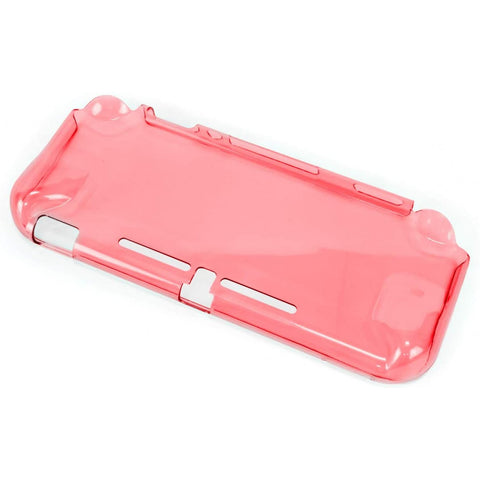 Nintendo Switch Lite Game Tech Crystal Back Cover Clear Pink