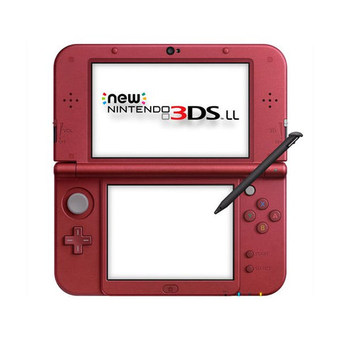 3DS LL New Console Metallic Red (without adaptor)