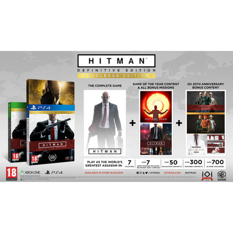 PS4 Hitman Definitive Steelbook Edition