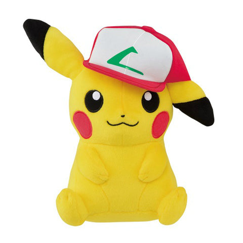 Pokemon Pikachu Plush Ash Cap (Kanto Version)