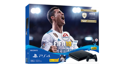 Sony Playstation 4 slim console (Black/500GB) FIFA 18 Bundle