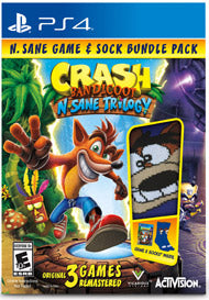 PS4 Crash Bandicoot N Sane Trilogy Socks Bundle (Region 3) Value_selection