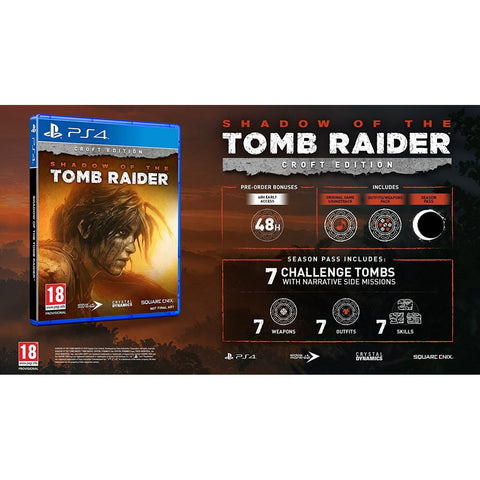 PS4 Shadow of The Tomb Raider Croft Edition (M18)
