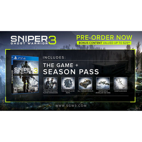 PS4 Sniper: Ghost Warrior 3 - Season Pass Edition M18