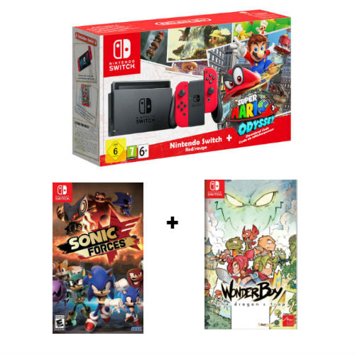 Nintendo Switch Super Mario Odyssey Bundle (with 2 games)