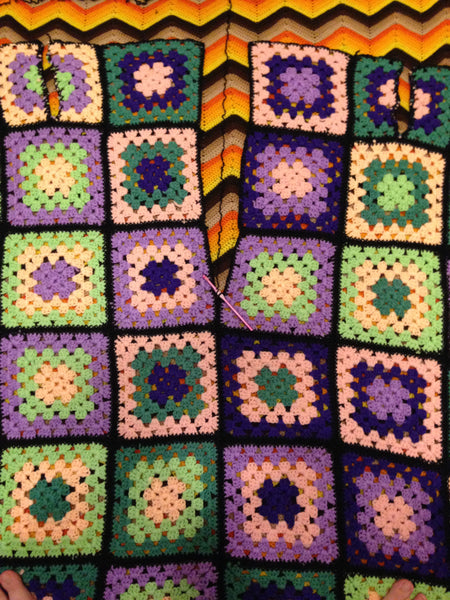 granny square cardigan tutorial pattern how-to crochet back seam