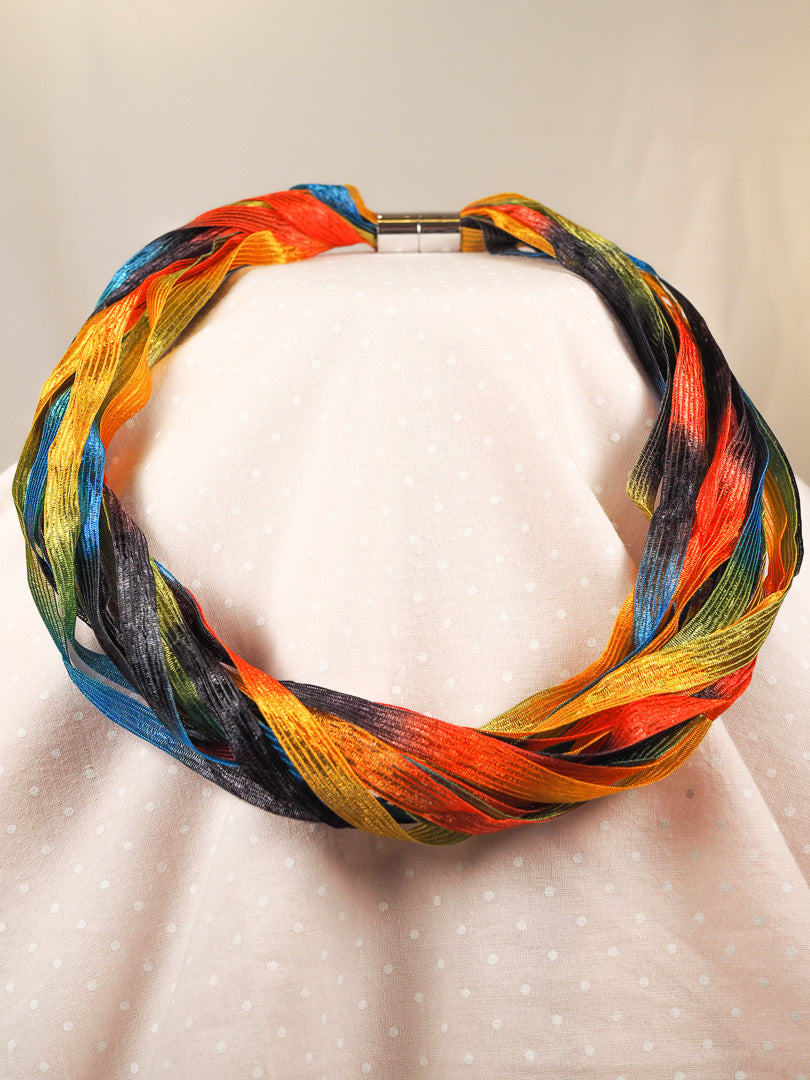Orange rainbow twist