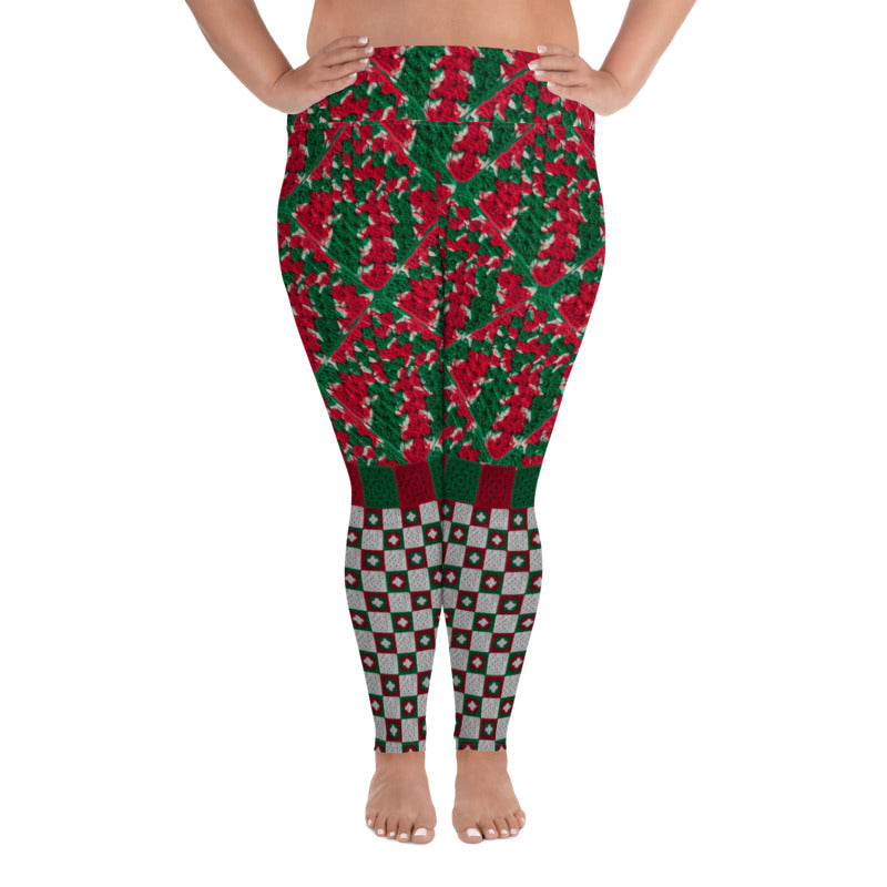 'Christmas Cheer' Crochet Print Granny Square Leggings