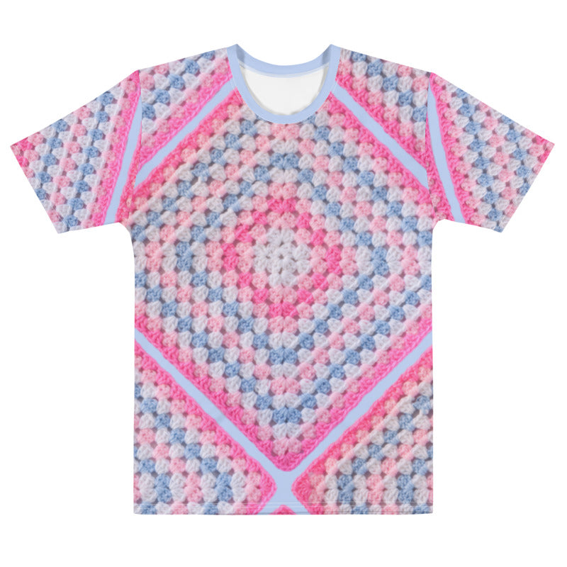'Cotton Candy' Crochet Print Unisex T-Shirt