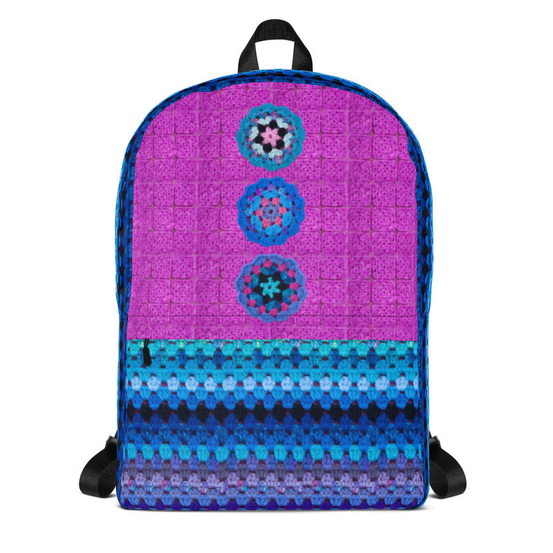 'Mermaid Queen' Crochet Print Backpack