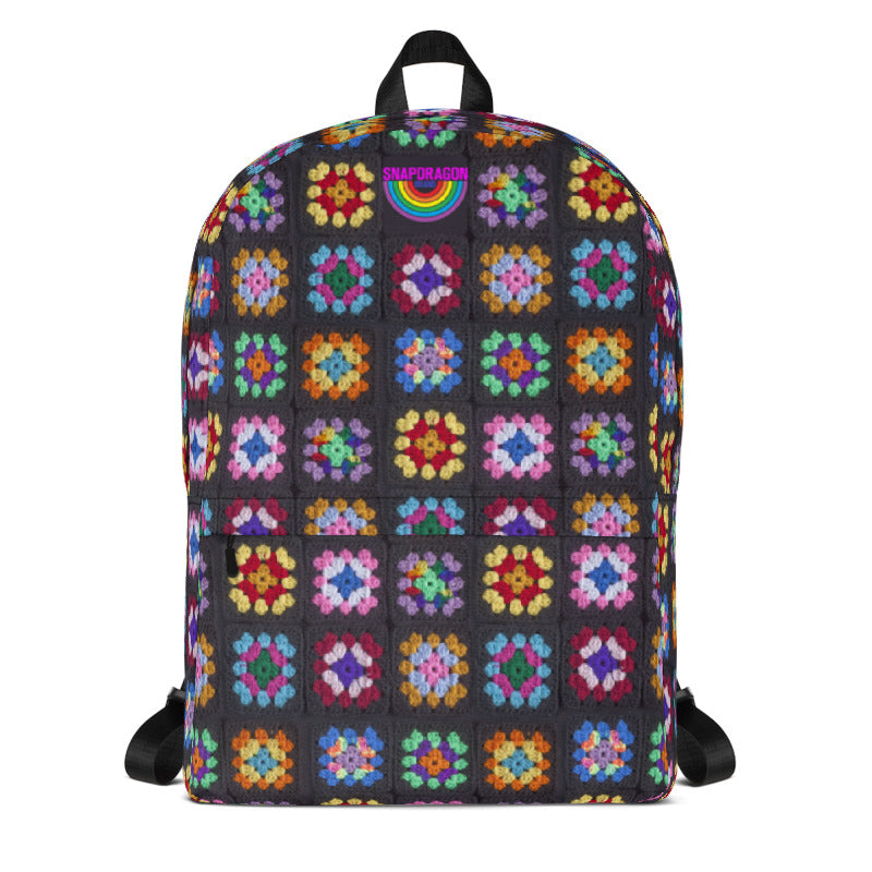 'Kaleidoscope' Classic Granny Square Print Backpack