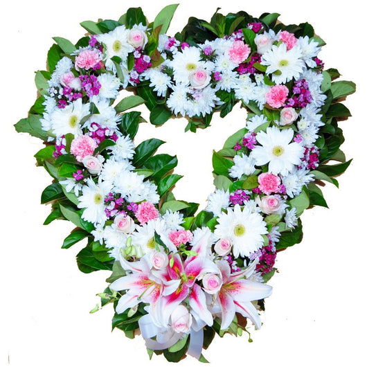 Wreath - Heart Pink