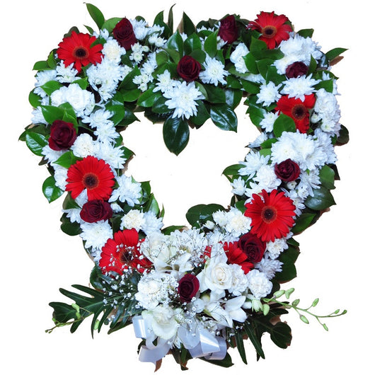 Wreath - Heart Red