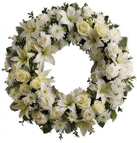 Wreath - Round White