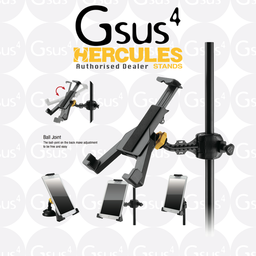 "Hercules DG305B All-In-One 7""-12.1"" iPad Holder Stand by Hercules - Gsus4"
