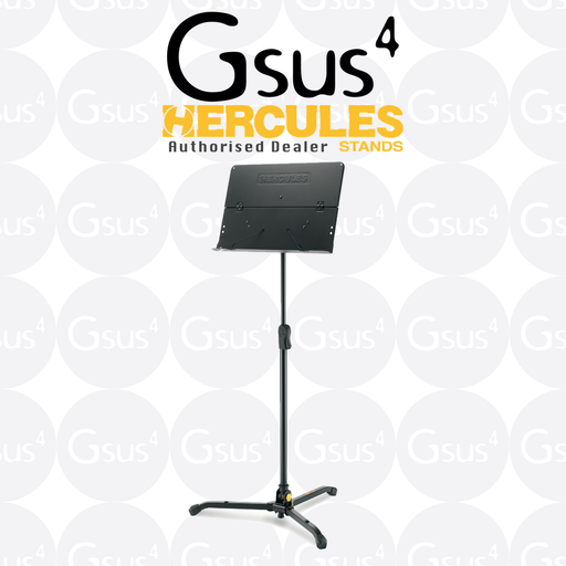 Hercules Music Stand BS301B w/ Ez Clutch - Tilting Base & Swivel Legs Stand by Hercules - Gsus4