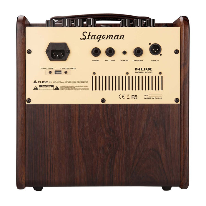 NUX | Stageman AC50 | 2ch 50W Acoustic Amp | w/ On-Board FX & iOS/Android App