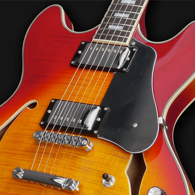 SIRE Larry Carlton | H7 STR | DoubleCut Hollow-Body | w/ GigBag | See-Through-Red