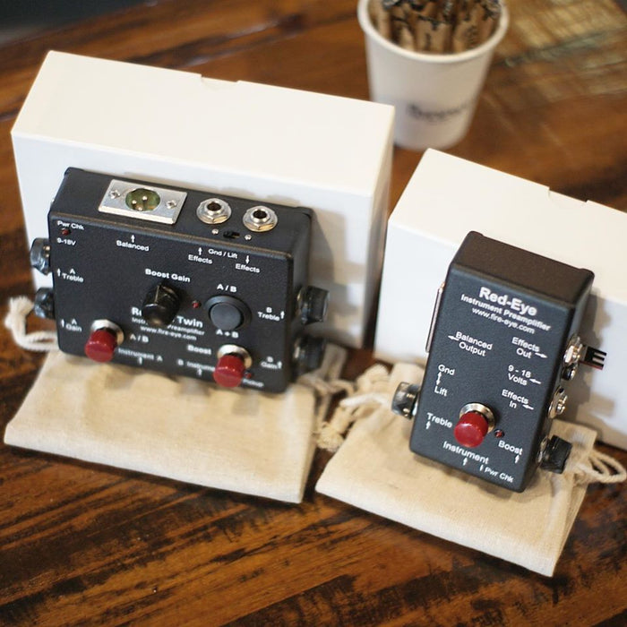 Red-Eye Twin™ MK2 | Active & Passive Preamp DI Box w/ Clean Boost, Effects Loop & AB Switch