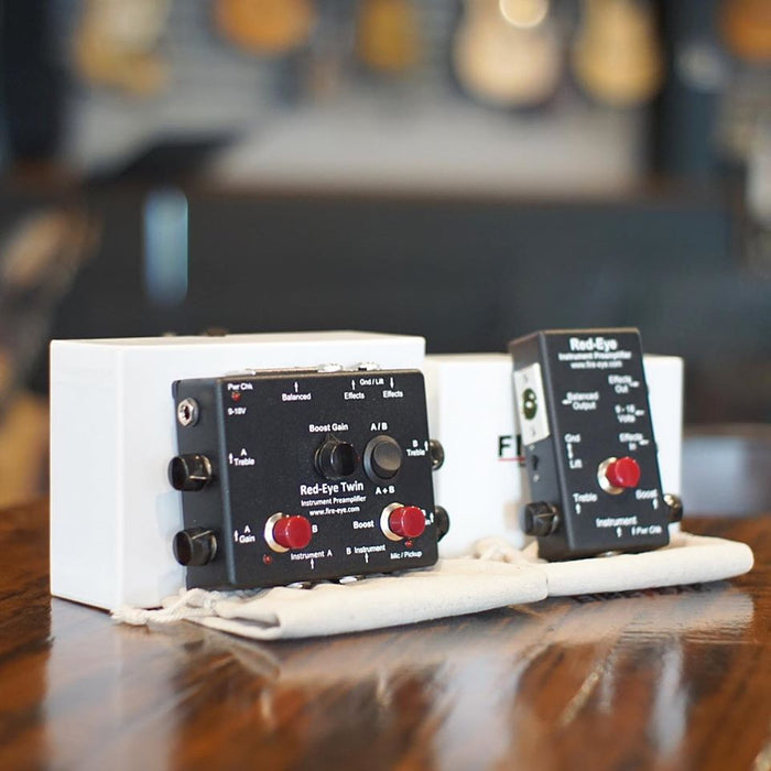 Red-Eye™ MK2 | Active & Passive Preamp DI Box w/ Clean Boost Switch & Effects Loop