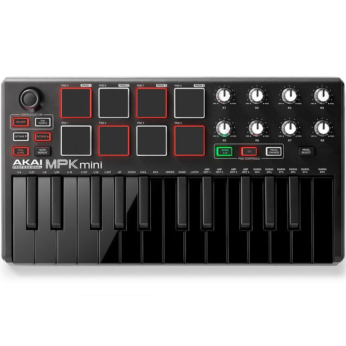 Akai MPK Mini mkII Compact Keyboard & Pad Controller(Limited Edition Black)