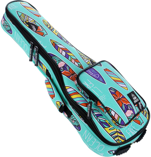Bondi Boards of Paradise Ukulele Gig Bag - Soprano Size - Gsus4