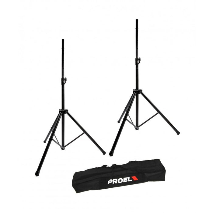 PROEL | FRE300BK | Heavy Duty Speaker Stand Pack (Pair) & Carry Bag