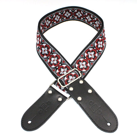"DSL Straps | JAC20 | 2"" Jacquard Weaving REDHOUSE Guitar Strap 