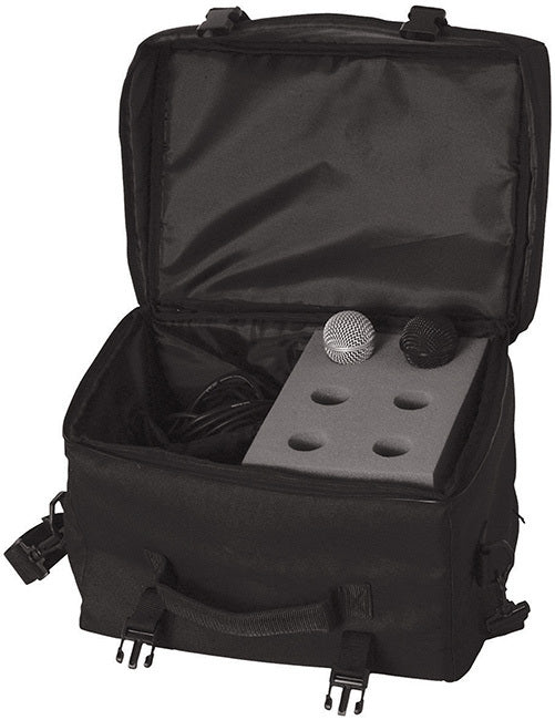 On Stage 6-Space Microphone Bag with Cable Compartment - Gsus4