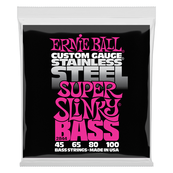 Ernie Ball | Super Slinky | Stainless Electric Bass Strings | Light Gauge | 45-100