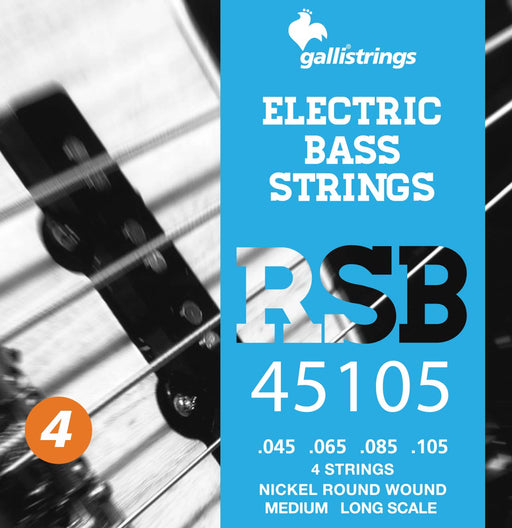 Galli RSB Nickel Plated Steel Round Wound 4 String Medium Bass Strings 45-105