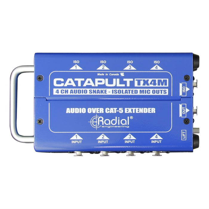 Radial | Catapult TX4M | 4CH Transmitter | Balanced I/O | Mic-Level Transformers | Cat5 Audio Snake