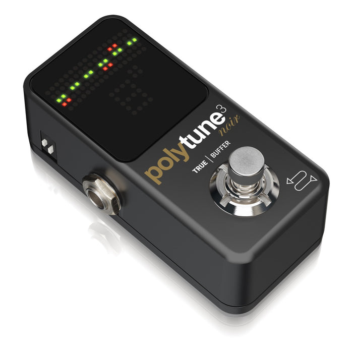 TC Electronic | Polytune 3 Mini Noir | Pedal Tuner w/ Built-in Bonafide Buffer