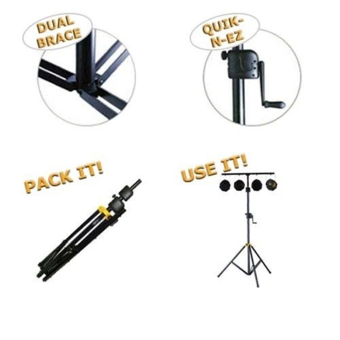 Hercules | LS700B | Winch-Up Stage Lighting T-Bar Stand | 1.7m - 3.5m Height