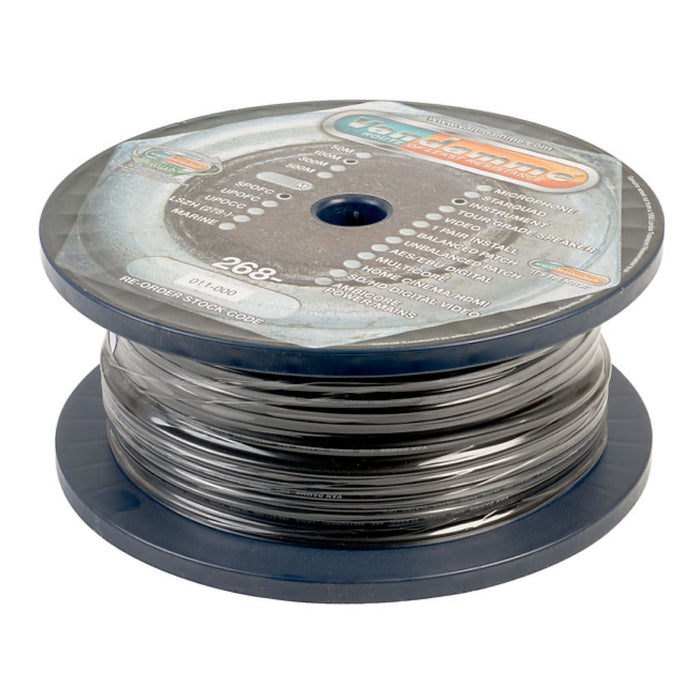 Van Damme | 268-011-000 | PRO GRADE CLASSIC XKE | Hi Impedance Instruments & Audio Unbalanced Cable | 6MM OD | 100M Spool Max