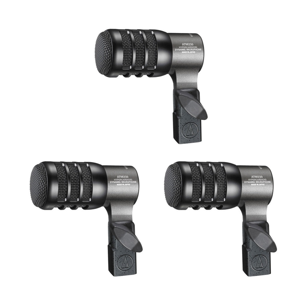 Audio Technica ATM230PK Hypercardioid Dynamic Instrument Microphone (3 Pack)