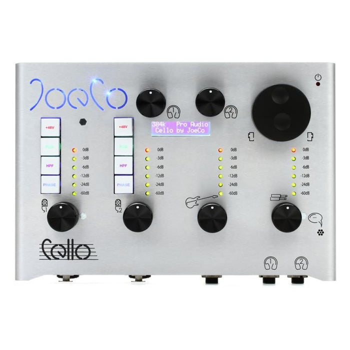 JoeCo | Cello | Audio Interface for Purists | 384kHz Top+ Algorithm  | JoeCo Preamps