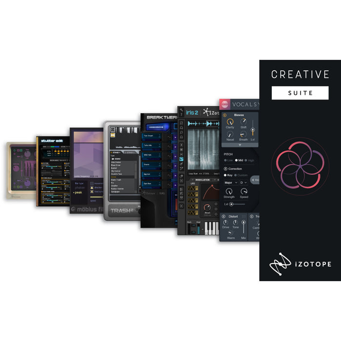 iZotope | EDU | Creative Suite | VocalSynth 2, Iris 2, Trash 2 Expanded & more Bundle - Gsus4
