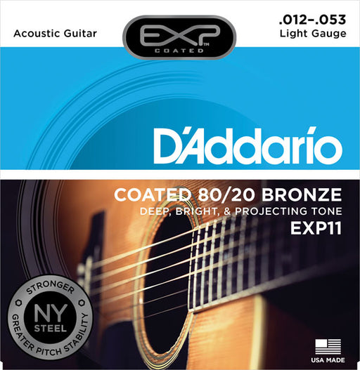 D'Addario Acoustic Guitar Coated Strings EXP 80/20 Bronze Acoustic Strings by D'addario - Gsus4