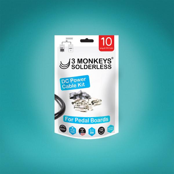 3 Monkeys | Solderless Kit | 2.1mm DC POWER Patch Cable Kit