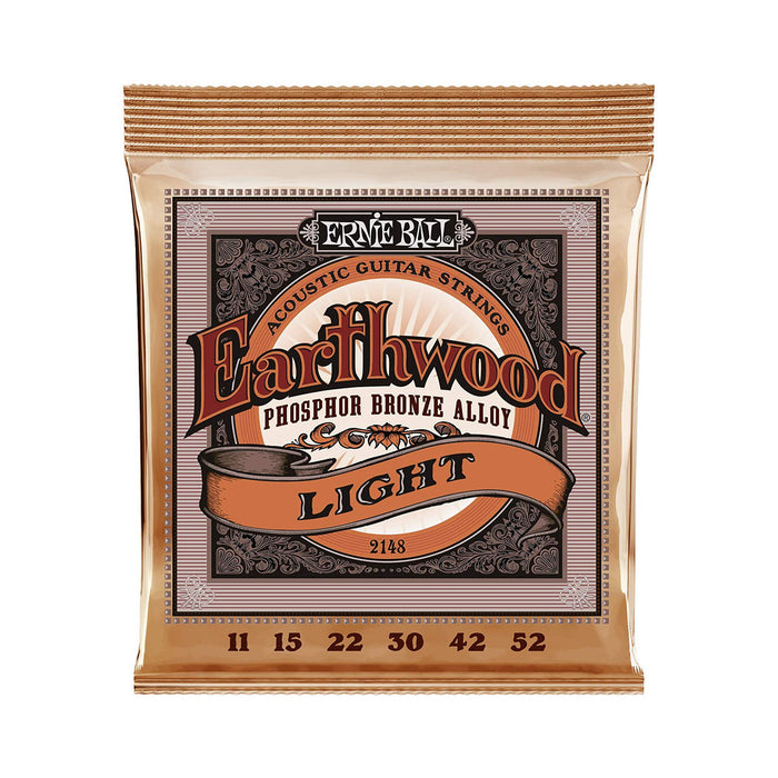 Ernie Ball | EARTHWOOD Acoustic | Phosphor Bronze Acoustic Guitar String | Light | 11-52